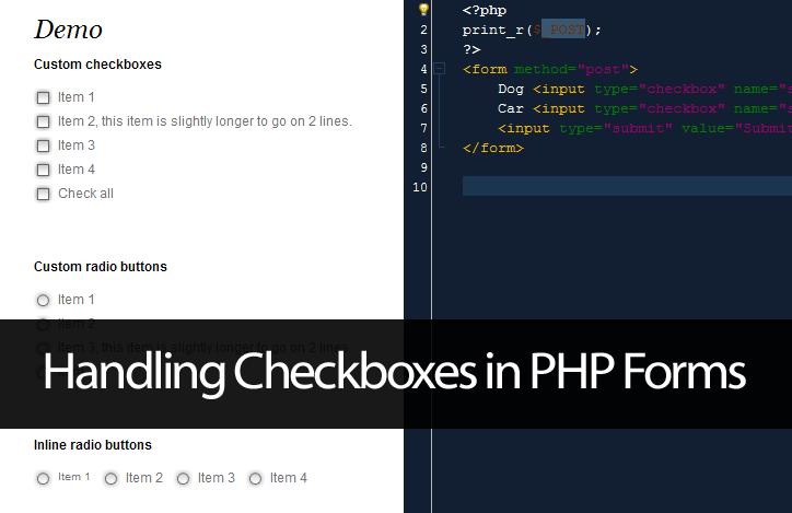 PHP Multiple Checkbox Array Handling - John Morris